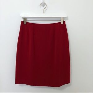 Kasper A.S.L. Separates Classy Red Pencil Skirt